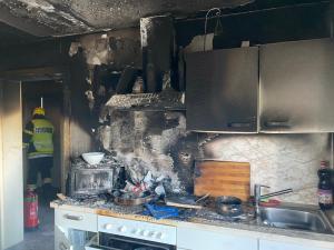Küchenbrand in der Kärntner Straße
