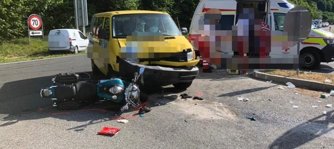 Verkehrsunfall B94, T VU 2