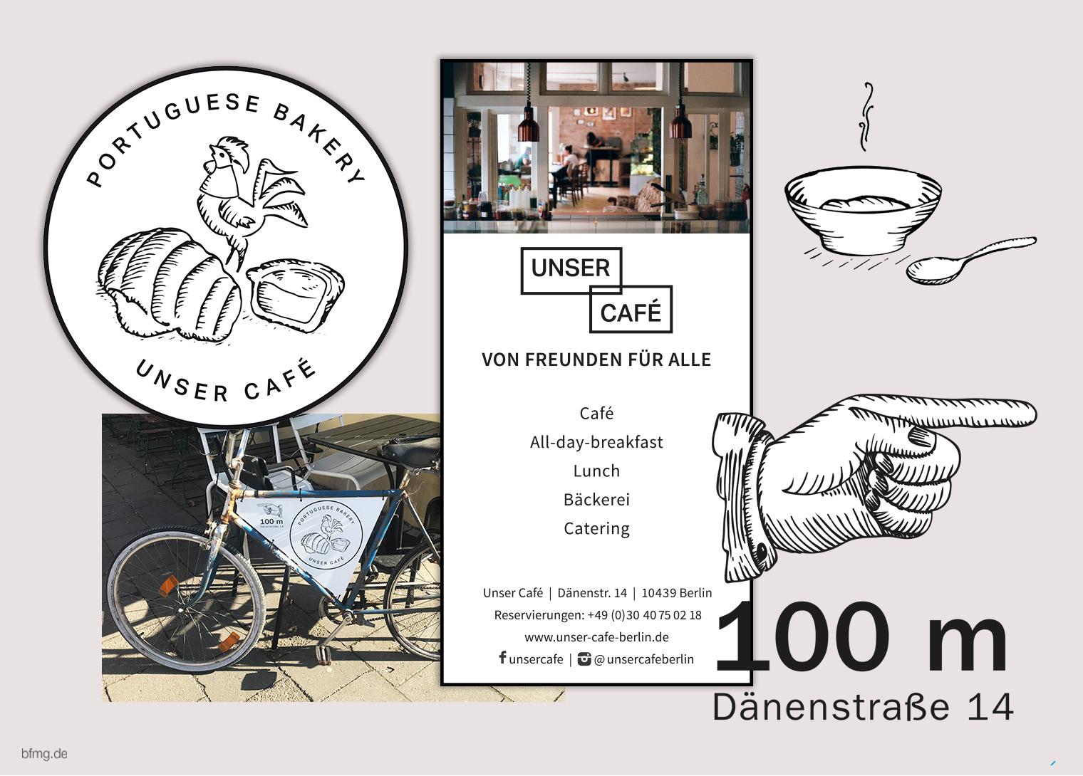 Grafikdesign für Café