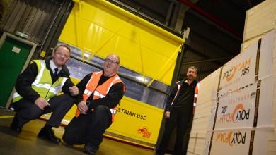 Photo of Union Industries segregates RAVATHERM UK Ltd's loading bay from warehouse product storage