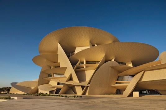 Desert rose made of concrete - National Museum of Qatar - Concrete Plant  Precast Technology