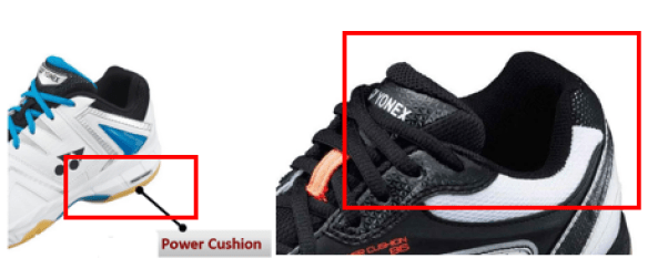 Power cushion and shoe opening cushion to prevent abrasions