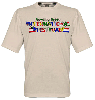 Festival logo t-shirt ivory