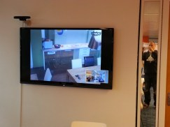Large Screen Video Window between Offices