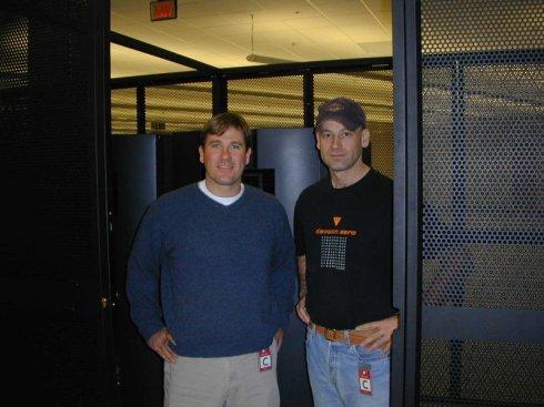 Matt and myself at the data center