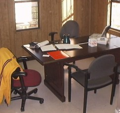 My office in the construction trailer office