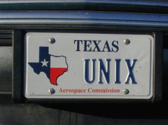 My UNIX license plate