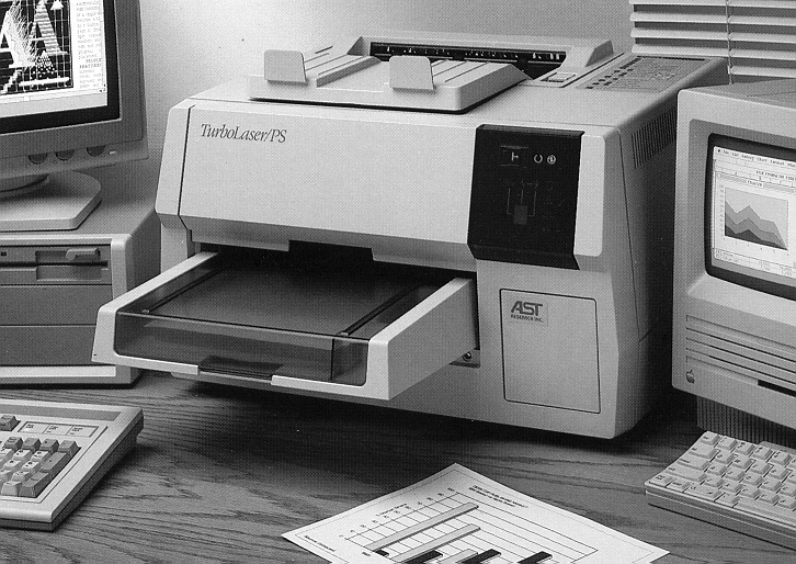Imported this AST Postscript Laser printer from the US in 1989 for Alpmann & Schmidt