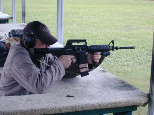 Training in Garland - with my own AR15 Assault Rifle