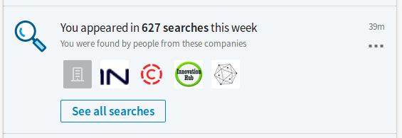 LinkedIn: 627 Searches - 05 NOV 2017