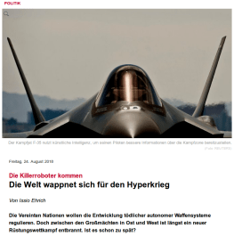 Hyperkrieg Article Spiegel Germany 24 AUG 2018