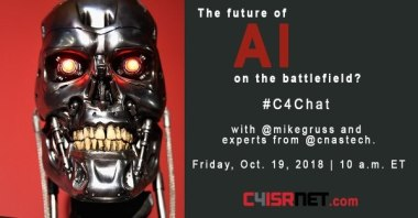 19 OCT 2018 - Chat at 10am EDST: The future of AI on the battlefield?