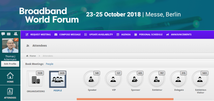 23-25 OCT - Broadband World Forum 2018 Berlin