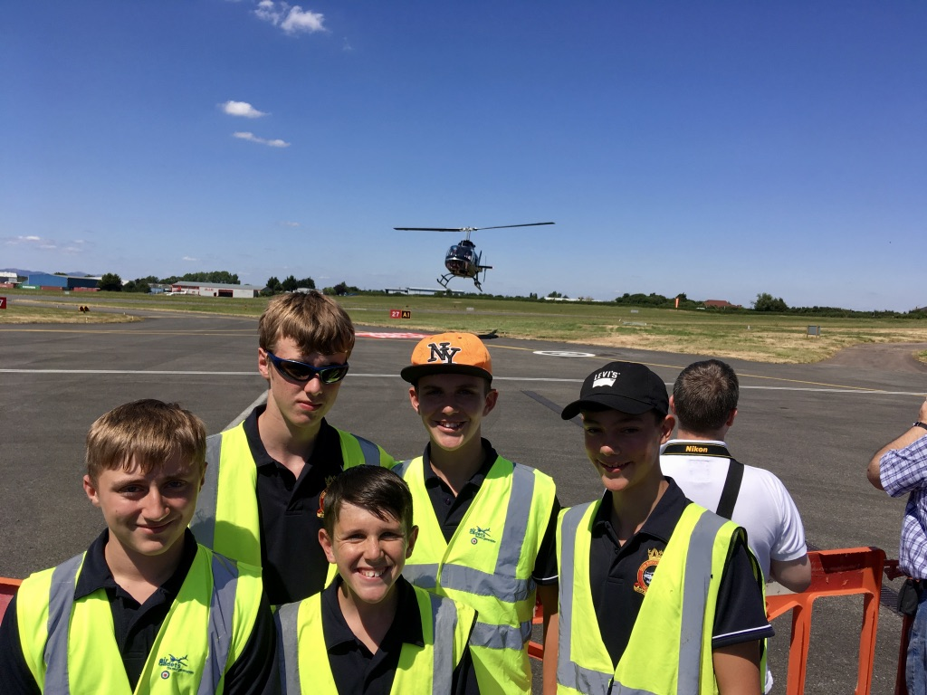 Bishop's Cleeve Cadets support Gloucestershire Airport Charity Open Day