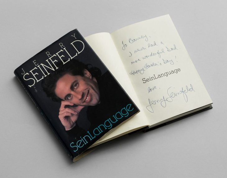 Jerry Seinfeld's book signed and dedicated to Barney Martin
