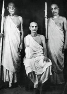 Swami Prabhupadha no dia do voto de sannyasa em 1959