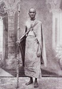 Aceitando o voto de renúncia (sannyasa) em 1918