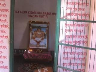 Bhajana kutira em Svananda Sukhada kunja, casa de Srila Bhaktivinoda Thakura, Godrumadvipa