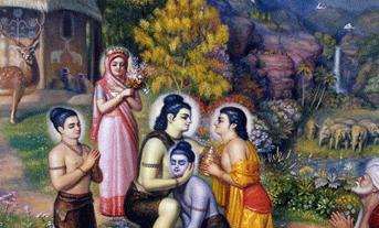 Tantos sentimentos opostos estavam vindo em seu coração e saltando, mas ele aceitou a ordem de Rama, porque agora compreendia o significado do amor. Mesmo que se tenha que beber veneno para agradar o amado, deve-se fazer isso. Esta é a prova do amor puro.
