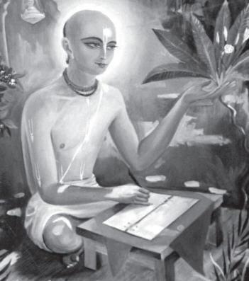 Ao fazer isso, ele estabeleceu a nossa sampradaya sobre uma base filosófica firme. Ele protegeu a corrente do rio de rasa, colocando pedras grandes de siddhanta em ambas as suas margens; desta forma, nenhuma água contaminada de falsas concepções poderia entrar.
