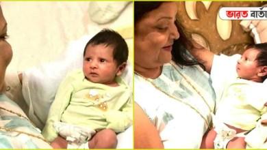 Photo of দিদার কোলে চেপে আদর খাচ্ছে পুঁচকে ইউভান, আলাদা মুডে দেখা গেল রাজ পুত্রকে