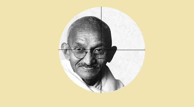 Usne-Gandhi-Ko-Kyun-Maara-book-by-Ashok-Kumar-Pandey,-Illustration-by-G-Caffe