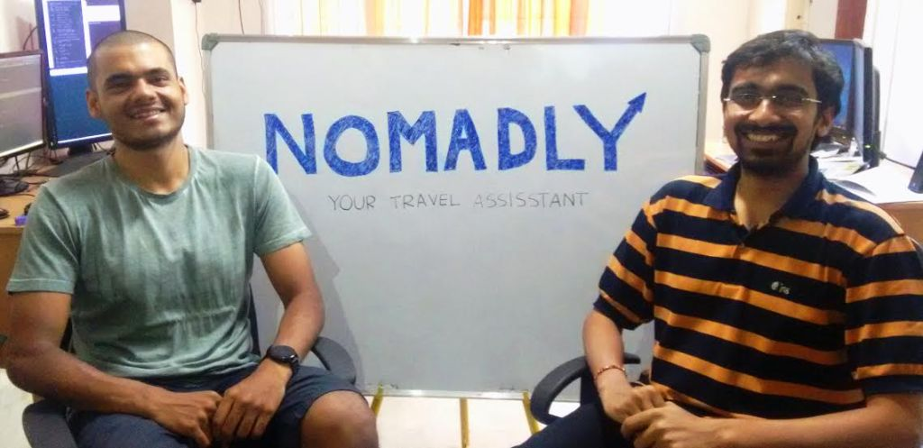 Nomadly Co-Founders - Rohan (L) and Sharath (R)