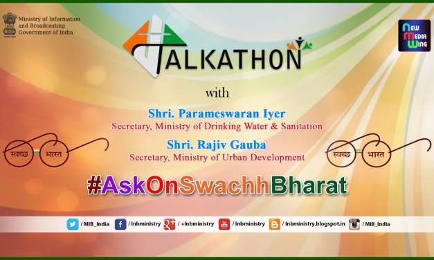 Watch Live @ 6.30 PM #Talkathon on #AskOnSwachhBharat on 27th June