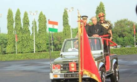 PRESIDENT REVIEWS PASSING OUT PARADE AT OFFICERS TRAINING ACADEMY (OTA), CHENNAI