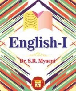 ALA's English-I by Dr. S.R. Myneni Reprint 2019