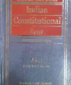 Kamal's Indian Constitutional law (2 Vols) by Durga Das Basu 5th Edition 2019