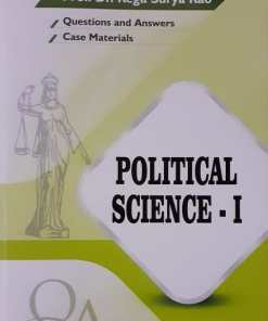 GLA's Question & Answers on Political Science-I by Dr. Rega Surya Rao 1st Edition 2019