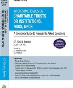 Wolters Kluwer Interesting Issues on Charitable Trusts or Institutions, NGOs, NPOs By N Suresh 4th Edition September 2019