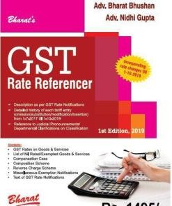 Bharat's GST Rate Referencer by Adv. Bharat Bhushan - 1st Edition September 2019