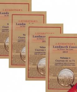 CLI's Landmark Cases in Direct Tax Laws (Set of 4 Vols) By S. Rajaratnam 6th Edition June 2019