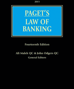 Lexis Nexis's Paget's Law of Banking by Ali Malek QC & John Odgers QC 14th Edition 2015