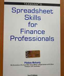 Taxmann's Spreadsheet Skills for Finance Professionals by Pitabas Mohanty - 2nd Edition August 2020