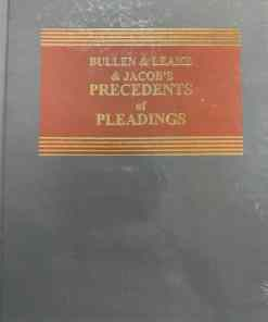 Sweet & Maxwell's Precedents of Pleadings by Bullen & Leake & Jacob - South Asian Edition