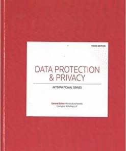 Sweet & Maxwell's Data Protection & Privacy by Monika kuschewsky - 3rd South Asian Edition 2019