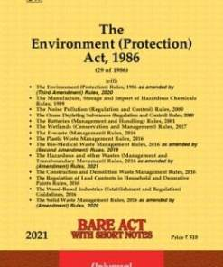 Lexis Nexis's The Environment (Protection) Act, 1986 (Bare Act) - 2021 Edition