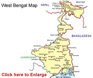 Image result for west bengal in map of india
