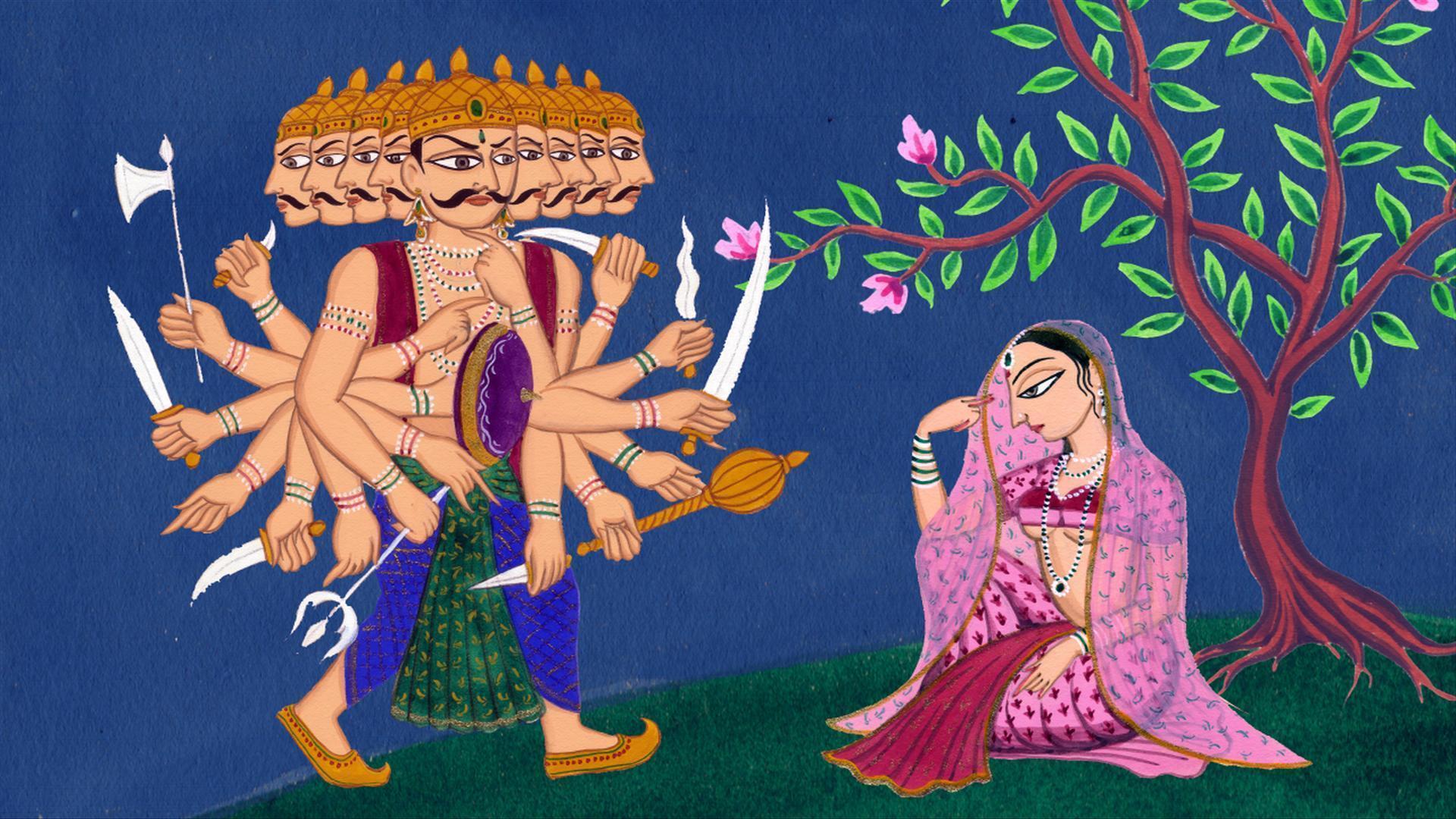 Ravana Sita Painting