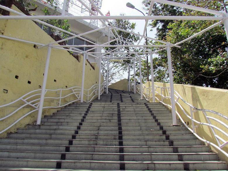 The 300+ stairs leading to the temple