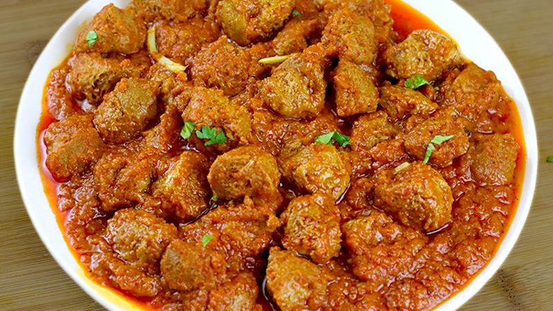 Masala Nutri Soy Chunks Curry Bharatzkitchen