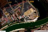 Citra satelit dari pelabuhan Romawi kuno, Ostia.