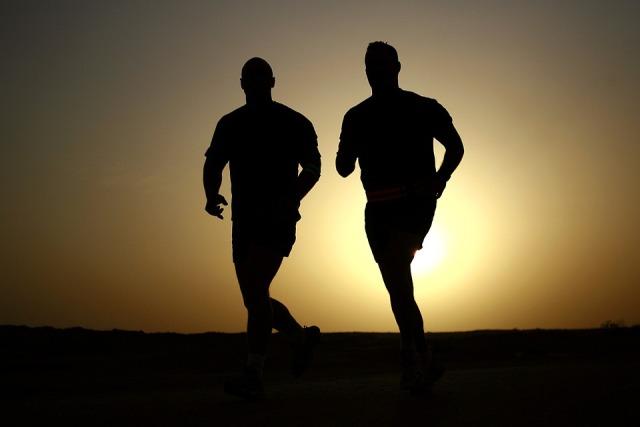 pelari, gerakan, atlit