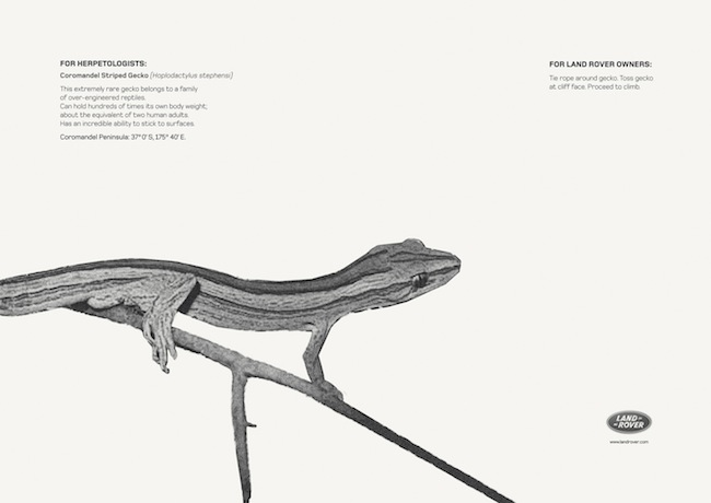 Land Rover ads from the Gulf: idea & craft come together