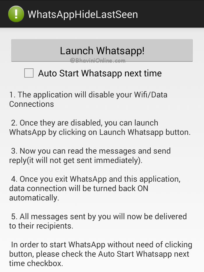 How to Hide the Last Seen Time on WhatsApp? | BhaviniOnline com