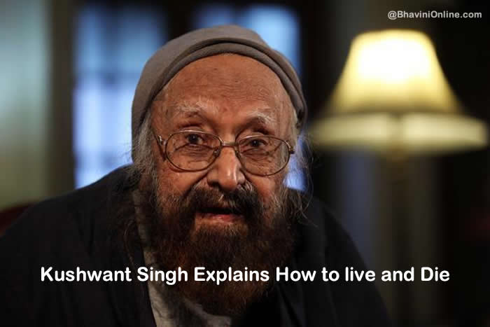 khushwant singh how to live and die 96
