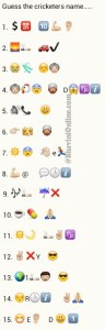 Whatsapp Puzzles: Guess Cricketers Names From Emoticons and Smileys